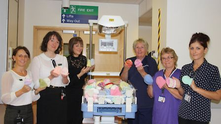 A 'Knit a hat for a premature baby' campaign has started at John Lewis Norwich Photo is from last y