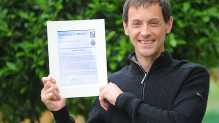 Petty Officer in the Royal Navy, Antony Whitwham has recently retired with his rare award. Pictured