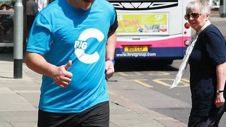 Scott Halliday ran from Norwich to Great Yarmouth and back again to raise funds for Norfolk's Cancer