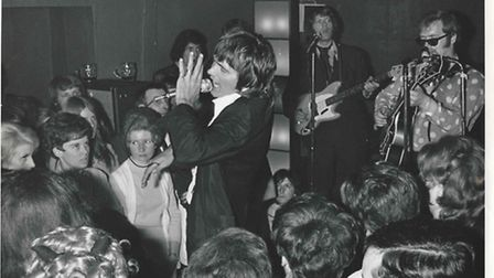 Billy Fury at the Cat Trap Club in Bedford Street, Norwich, in the early 1960s.