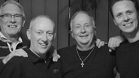 JT and Accent 3: From left, left to right, Roger Woodrow, Gary Dungar, Paul Pryde and Jason Tyrrell.
