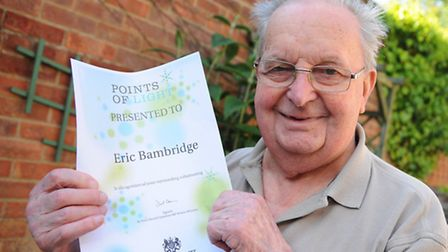 Eric Bambridge, 91, of Sprowston, who has become a UK Point of Light for his years of inventing gadg