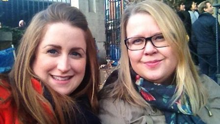 Kathryn Holeywell (left) and friend, Anja Gronvold, will be walking together to show their support f
