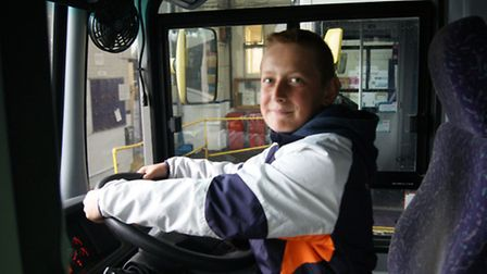 Costessey youngster Sam Jones in the driving seat.