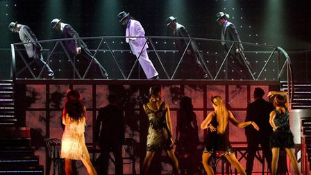 The cast of Thriller Live performing Michael Jackson's iconic Anti Gravity Lean.