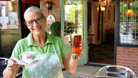 The newly opened Acorn Tearooms at the Royal Oak pub in Poringland. Owner Delia Perry, catering for