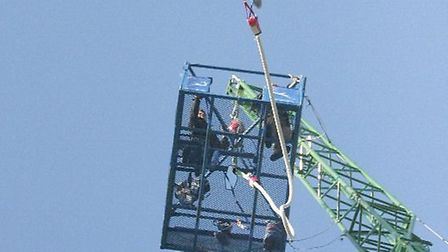 Paul Martin did a bungee jump earlier this year. Picture: SUBMITTED.