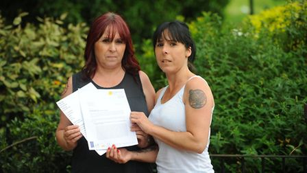 Pauline Leigh (l) and her sister Wendy Clarke are complaining about care given to their father at th