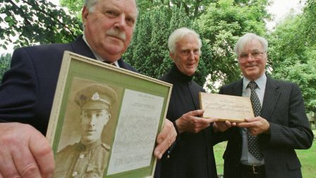 Flashback to the year 2000, and from the left: Major Richard Wilson late of the Suffolk Regiment, Vi