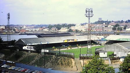 One of a series of slides taken by Roy Male from the top of the J J Colman building in Carrow Road i