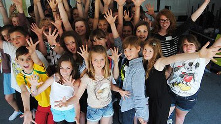Youngsters enjoying a previous West End Experience course like the one coming to Hellesdon High Scho