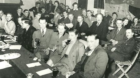 A Town FC social in the early 1950s at the King's Head Inn.