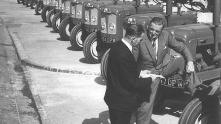 Trade and IndustryMr .J.G .Louth (left), manager of Mann Egerton's tractor depot in Ber Street, Norw