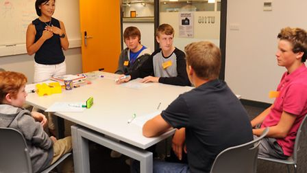 The new UTC building open for taster lessons before the new term starts in September. Students study