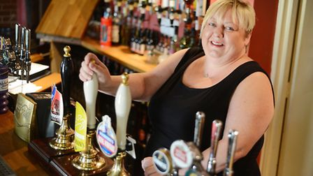 Lynsey Rush is the landlady at The Canary & Linnet at Fransham. Picture: Ian Burt