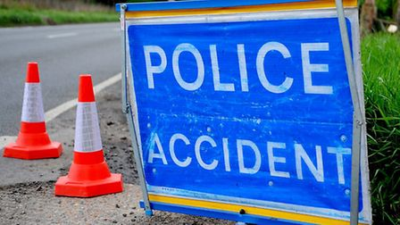 One man was taken to hospital following the crash.