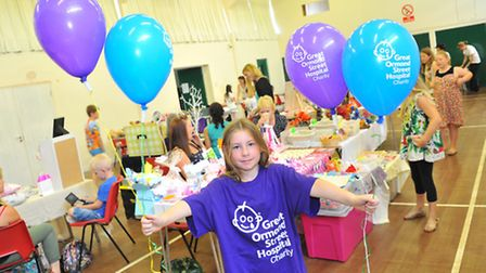 Emily Bulman at her 'Craft and Make Fayre' in Brundall raising money for Great Ormond Street Hospita