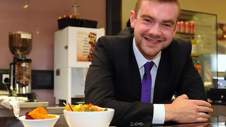 City College Norwich student, Sam Brown, 23, who has helped organise over a 1000 hours paid work exp