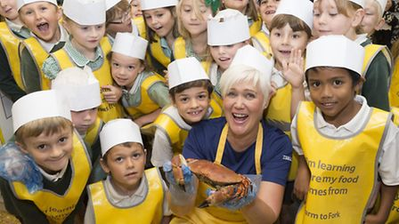 St. John's Primary School, Hoveton visit the Farm to Fork Trail at Tesco, Blue Bloar Lane, Sprowston