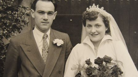 Frank and Lesley Seaman on their wedding day. Picture: Submitted