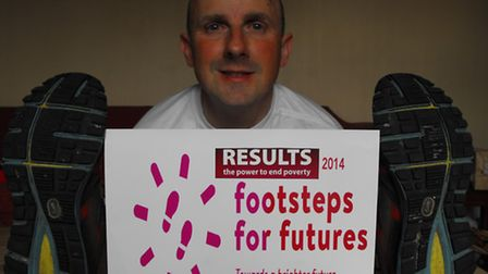 Mark Pointer, who will be working to work to raise awareness for Footsteps for Futures