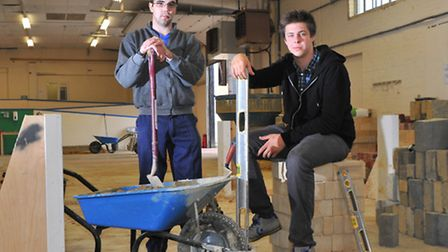 James Watson and Sam Alexander who are both in the final for Young Builder of the Year Award 2014.Pi