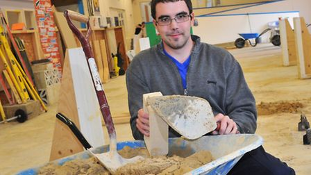 James Watson, who is in the final for Young Builder of the Year Award 2014.Picture by SIMON FINLAY.