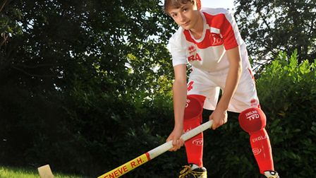Robbie Allander who is just back from representing England in the European Roller Hockey championshi