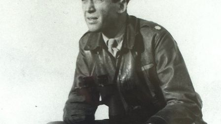 The most famous American based at Old Buckenham Airfield was James Stewart, pictured on the old cont