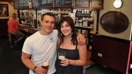 The Fat Cat Brewery Tap.; Mark White and Laura Hedley-White.