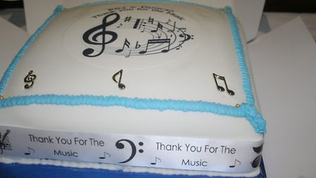 Rita Berchem and Duncan Pigg's celebration cake.