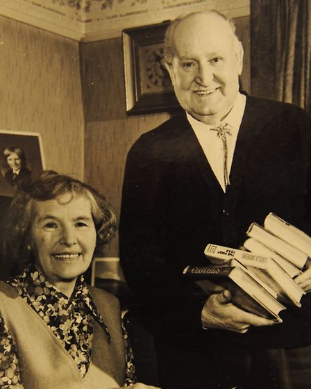 Mary Biggs and her husband, John Henry Biggs, when he retired in 1974. Picture: submitted