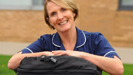 Liz Rooney, a sister at surgical outpatients at the Norfolk and Norwich University Hospital, who is