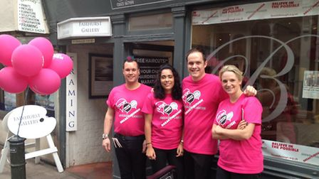Brian Coombes hairdressing, who completed a 24-hour styling marathon for charity
