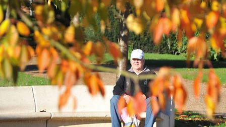 Eaton Park basks in autumn sunshine during half term as families enjoy the warm weather.Picture by S