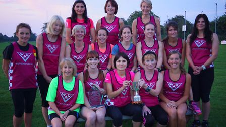 Wymondham Athletics Clubs womens team claimed the winners trophy at the Round Norfolk Relay event.