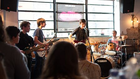 Black Shuck playing at the Sound+Vision young stage at the Birdcage. Photo: Bill Smith