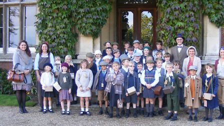 Taverham Hall pupils experiencing life as an evacuee