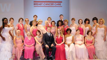 Breast cancer survivor Hayley George at the Breast Cancer Care fashion show in London