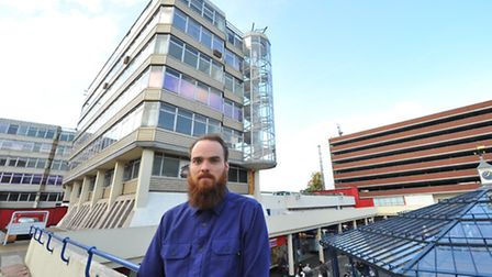American designer Michael James Lewis is campaigning for Anglia Square's architecture to be celebrat