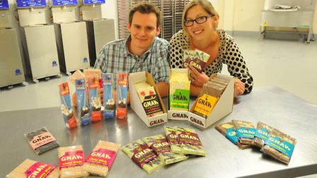 Matt and Teri Legon of chocolate makers Gnaw in their new factory at the Livestock Market, Norwich.P