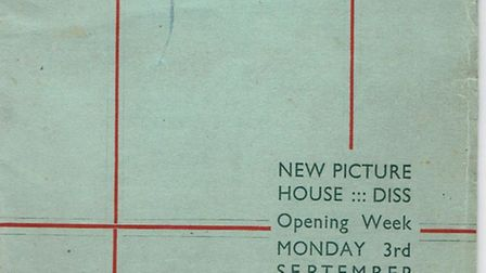 Norfolk at the Pictures. Pictured: Diss Picture House opening week programme 1934. Picture: Diss Mus