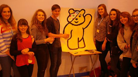 Students at Attleborough Academy Norfolk raised more than £800 for Children in Need.