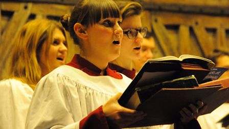 Last years Norwich Evening News Carols for Christmas service at St Peter Mancroft church.