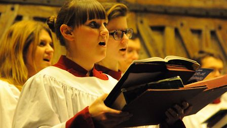 Last year's Evening News Carols at Christmas service by candlelight at St Peter Mancroft. The Choral