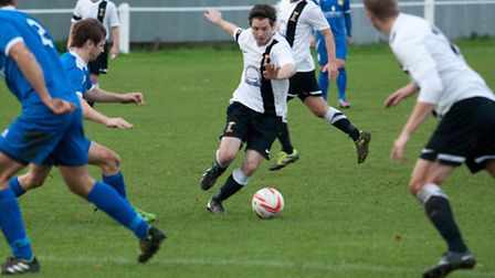 Action from Swaffham Town's 2-1 home win against March Town United, Alex Vincent finding form again