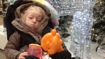 Bethany Smith, four, has designed a Christmas card for East Anglia's Children's Hospices