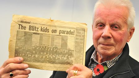 """Former Civil Defence member Peter Redgment, who was one of the """"Blitz Kids"""". He is seventh from left"""