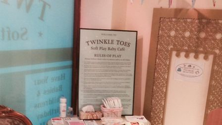 The baby changing room facilities at Twinkle Toes soft play baby cafe