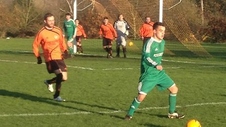 Action from Watton United's 4-0 win at Sprowston Athletic Reserves.